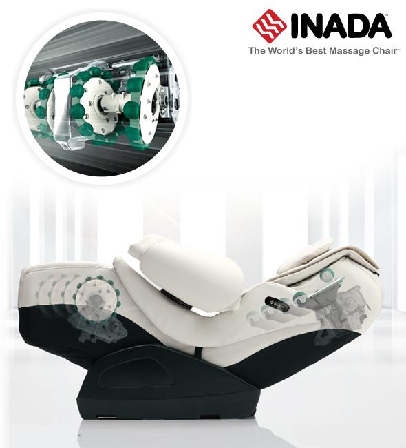 Inada Duet masszazsfotel szerkezete