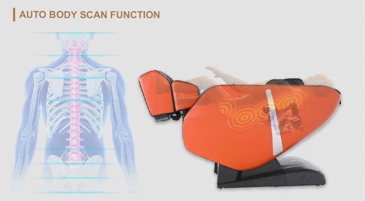 A fotel átvizsgálja az ön testét és intelligensen beállítja magát