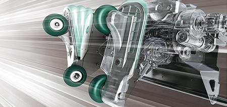 3D mechanizmus, masszázsgörgők és légpárnák